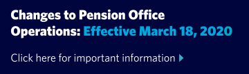 Changes to Pension Office operations